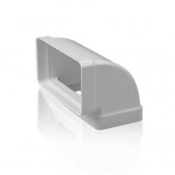 Codo 90º rectangular PVC...